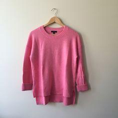 Jcrew High-Low Crewneck Sweater A little oversized. Rib trim at neck, cuff, & hem. Wool/nylon/viscose J. Crew Sweaters Crew & Scoop Necks