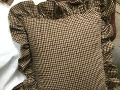 Original Ralph Lauren brown/tan hounds tooth wool standard pillow sham Ashleigh Coordinate by Hannahandhersisters on Etsy