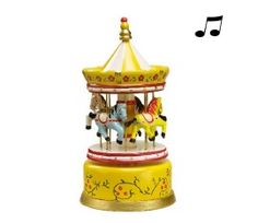 Muziekdoosje met draaiende paarden carousel. De carousel gaat echt draaien als je het muziekdoosje opwindt. Wat nog leuker is? Dat het gratis voor je wordt ingepakt bij gekopbeestjes.nl