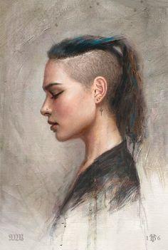 """eiruvsq: """" Artist: Tom Bagshaw """"Portrait Study no9″ """"Portrait Study no10″ """""""