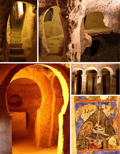Underground Cities: 3500 Years of Cappadocian Cave Homes.  Some lovely ideas and the carvers who worked on some of these were quite good.
