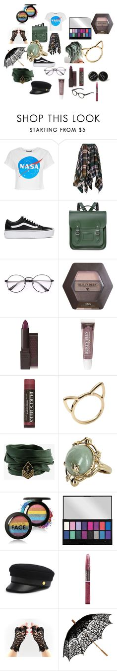 """Radom"" by arikenn on Polyvore featuring Sacai, Vans, The Cambridge Satchel Company, Burt's Bees, Yves Saint Laurent, Vintage, Henri Bendel, Remedios and eyebobs"