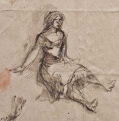 Max Schwimmer - Zwei Frauen / Sitzende Frau - Bleistiftskizze - o. J. in Antiquitäten & Kunst, Grafik, Handzeichnungen, Originalzeichnungen 1900-1949 | eBay