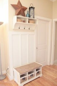 Entry way shoe bench