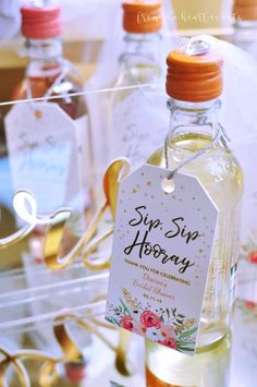 "Sip Sip Hooray – Drink Favor from an Elegant ""Miss to Mrs"" Bridal Shower Brunch on Kara's Party Ideas Elegant Bridal Shower, Bridal Shower Tea, Bridal Showers, Bridal Shower Cards, Wedding Favors For Guests, Unique Wedding Favors, Wedding Ideas, Diy Wedding, Mauve Wedding"