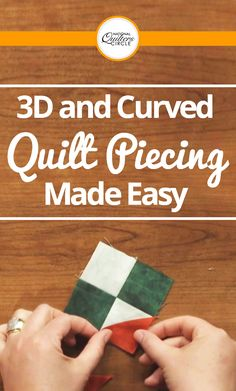 Joli Sayasane gets the look of curved and dimensional piecing without the tricky work. She teaches you how to make a tulip block using this technique that consists of only rectangles and squares. Start by making a center piece and then add a four patch square for the petals.