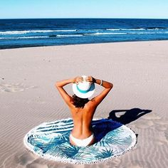 The Beach  Thanks @nicolebernardes & @monsieurkool   #jochcollection #thecalifornia #sealover #beachlover #beachbrand #adventure  #madeineurope #roundtowel #thefrenchroundie #roundie #summervibes #summer2016 #montpellier #southoffrance #beach #beachessentials #withlove #beachaccessories #beachroundie #crush #beachlife #servietteronde #palmtrees #boho #bohemian