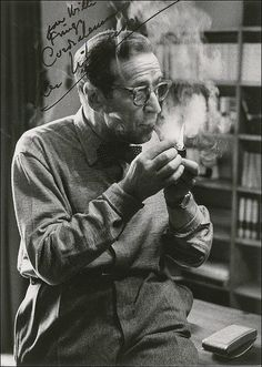 Noir Crime Fiction - Georges Simenon. [*for more rare author photos, see Michael  McClintock Poet/ Author Photos board].