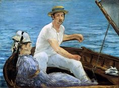Boating, 1874 Édouard Manet (French, Oil on canvas 38 x 51 in. x cm) Signed (lower right): Manet H. Havemeyer Collection, Bequest of Mrs. Havemeyer, 1929 On view: Gallery 810 Last Updated November 2012 Post Impressionism, Impressionist Art, Renoir, Metropolitan Museum, Edouard Manet Paintings, Peter Paul Rubens, Oil Painting Reproductions, Fine Art, Claude Monet