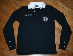 Polo Ralph Lauren #3 RL long-sleeve Rugby Shirt-Women's Large/embroidered/prep