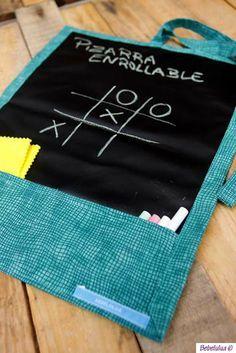 El blog de Bebelulua: Pizarra enrollable // Chalkboard mat
