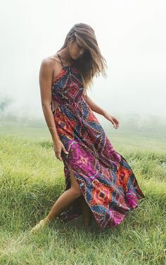 < 'Find Your Wild' in the 'Native Sands Maxi' Dress >