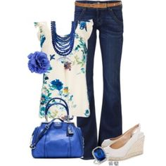 Royal Blue Floral