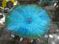 """Ocean Flower"" ~ looking down by Chrysalis Pottery www.facebook.com/BarbJohnson.pottery"
