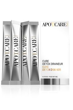 This detox treatment by APOT.CARE (Detox Drainer Cure) Paris captivates thanks to its sophisticated 5-step action and the fruity flavours of peach tea