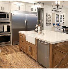 Home Renovation, Home Remodeling, Kitchen Remodeling, Kitchen Redo, New Kitchen, Kitchen Cabinets, Kitchen Ideas, Awesome Kitchen, Kitchen Sinks