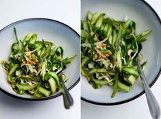 Shaved Asparagus Ribbons with Sesame-Chili and Lime Dressing