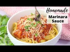 The is The Best Marinara Sauce, it a homemade marinara sauce recipe come from a friend with an Italian mama! It's made with simple ingredients but it's the p. Best Marinara Sauce, Pasta Marinara, Homemade Spaghetti Sauce, Homemade Marinara, Sauce Recipes, Cooking Recipes, Best Italian Recipes, Favorite Recipes, Italian Spices
