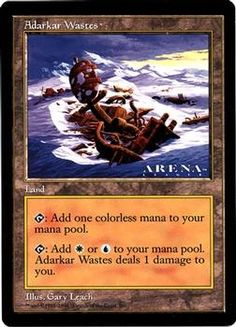 "Magic The Gathering MTG Adarkar Wastes (6""x9"" Oversized)(Not tournament legal) $1.99"