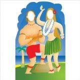 Advanced Graphics Hawaiian Couple Stand-In Life-Size Cardboard Stand-Up - 546 Life Size Cutouts, Life Size Cardboard Cutouts, Hawaiian Theme, Hawaiian Luau, Hawaiian Parties, Beach Party Invitations, Hawaian Party, Luau Party Supplies, Tiki Party