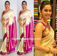 Rakul Preet Singh in Kanjeevaram Saree photo