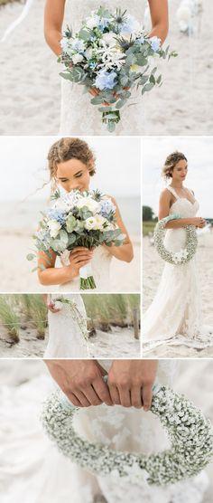 Maritime Brautsträuße für die Hochzeit an der Ostsee. Bilder: © Ernst Merkhofer