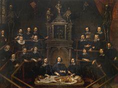 """Lección de anatomía del doctor Joannes van Buyten (""""Anatomy lesson of Dr. Joannes van Buyten""""). Huibrecht Sporckmans. 1648. Localización: Museo Real de Bellas Artes de Ámberes (Bélgica). https://painthealth.wordpress.com/2016/09/30/leccion-de-anatomia-del-doctor-joannes-van-buyten/"""