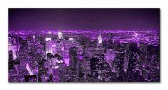 5832728 l / Cuadro Noche en Nueva York lila