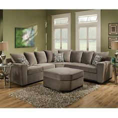 Nebraska Furniture Mart – Simmons Upholstery 2-Piece Contemporary Sectional in Gunsmoke Gray