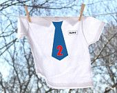 Personalized Custom Birthday Tie with Name Tag Tee