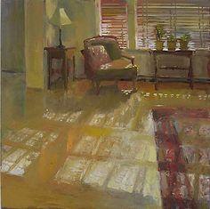 """Chatoiement  """"Shimmer""""  par Carole Rabe huile sur toile, encadré, 20 pouces par 20 pouces  $ 1500 (vendu)"""