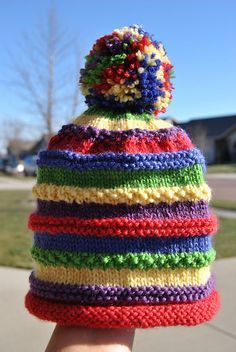 I Have Lots Of Leftovers Lying Around Th - Diy Crafts - Marecipe Baby Hats Knitting, Knitting For Kids, Knitted Hats, Crochet Hats, Diy Crafts Knitting, Loom Knitting Projects, Gilet Rose, Easy Knit Hat, Loom Hats