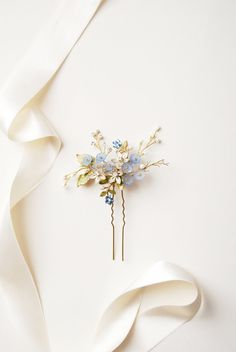 Forget-me-not bridal hairpin | Elibre handmade