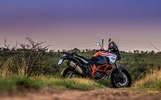 Descargar fondos de pantalla KTM 1290 Super Adventure S, 2018, 4k, cross-country de motocicletas, KTM