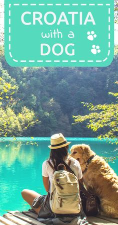 Croatia with a dog.