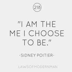 we choose to be who we are