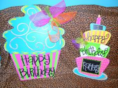 BIRTHDAY CAKE  Wooden Door Hanger  Great for by SouthernByDesignCo, $25.00