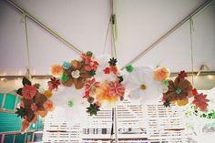 paper flower installation for inspiration