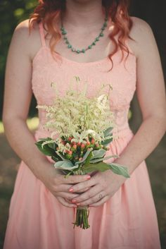 Peach and White Bridesmaid Bouquet | Eilas Photography https://www.theknot.com/marketplace/eilas-photography-franklin-tn-332444
