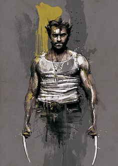 Movie Characters by Florian Nicolle wolverine Marvel Wolverine, Wolverine Logan, Marvel Comics, Hq Marvel, Marvel Heroes, Wolverine Tattoo, Wolverine Poster, Logan Xmen, Comic Book Characters