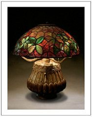Tiffany Woodbine 57b (katana_koshirae) Tags: lighting light art nature glass lamp floral handicraft design antique decorative interior crafts arts culture stained collection american lamps woodbine nouveau tiffany