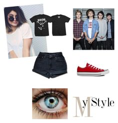 """""""My Style 5sos <3"""" by thaisa-tcs ❤ liked on Polyvore featuring mode, Levi's, Spy Optic et Converse"""
