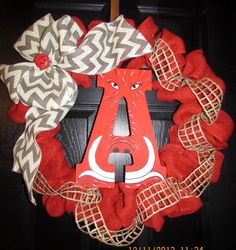 Arkansas Razorback Wreath by GodsLovingGrace on Etsy, $55.00