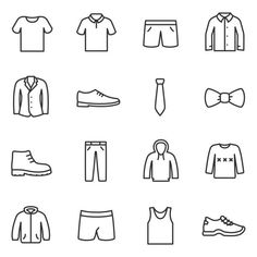 Man Icon, Icon Set, Math, Stickers, Clothes, How To Draw, Outfits, Math Resources, Sticker