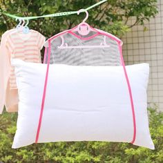 2018 Balcony windproof frame fixed pillow Multifunctional pillow toys drying rack drying racks hanging racks Net Home Container Laundry Hanger, Laundry Storage, Storage Hacks, Bag Storage, Storage Boxes, Sewing Hacks, Sewing Crafts, Sewing Tips, Hanging Clothes