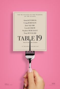 TABLE 19 (MARCH A romantic comedy film about a woman who was dumped by her boyfriend and finds herself entangled in an eventful night after. The movie is top billed by Anna Kendrick, Lisa Kudrow, Craig Robinson and June Squibb. Streaming Movies, Hd Movies, Movies To Watch, Movies Online, Hd Streaming, Movie Film, Cloud Movies, Nice Movies, 2017 Movies
