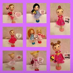 Lots of cute peg dolls all ready for Mother's Day. The Sugar Plum Workshop