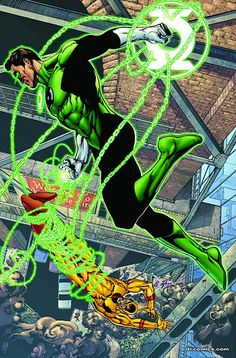 Green Lantern vs Zoom - ethan van sciver