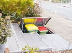 Gardenplaza - Hässliche Mülltonnen einfach per Funk verschwinden lassen - Der Lift für den Müll