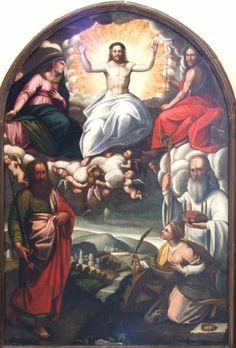 Agnolo Guidotti,  Cristo in Gloria con la Madonna,  San Giovanni Battista, San Paolo, Santa Caterina d'Alessandria  e San Romualdo,chiesa di Santa Maria a Poppiena